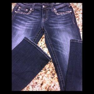 NWT Miss Me Boot cut embellished pocket jeans Sz30